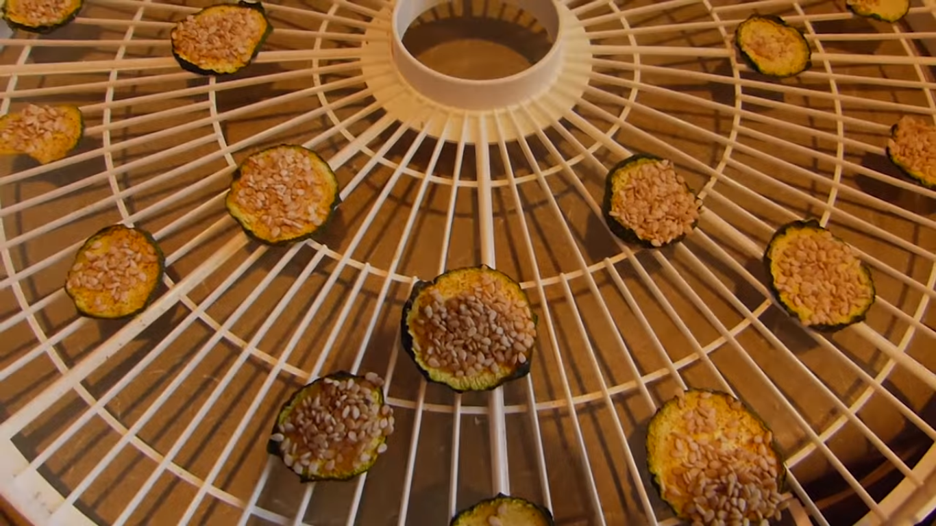 Zucchini Chips in  Food Dehydrator