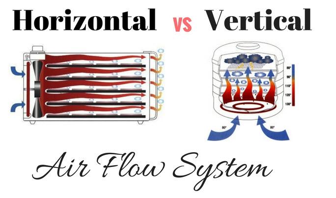 Horizontal vs Vertical Air Flow System in food dehydrator