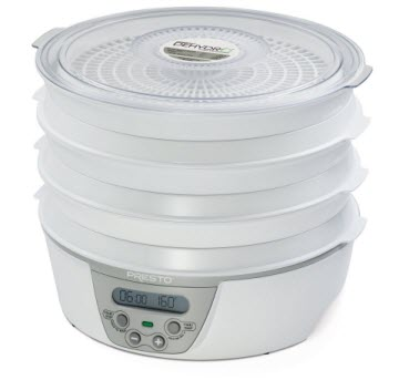 Presto 06301 Dehydro Digital Timer and Temperature Electric Food Dehydrator