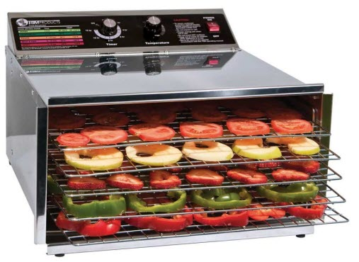 TSM Products Stainless Steel Food Dehydrator with timer and temperature control