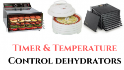 timer temperature control food dehydrators