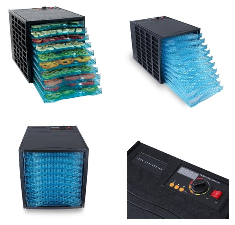DELLA 048-GM-48174 850W 10-Trays Deluxe Electric Food Dehydrator, Fruit Meat Sausage