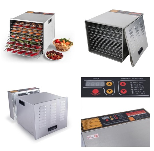 Della Commercial large 1200W 10-Tray Food Dehydrator