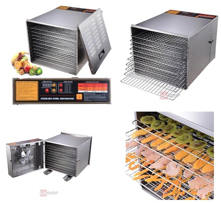 MegaBrand 10 Tray 1200W Fruit Vegetable Sausage Jerky Food Dehydrator Dryer