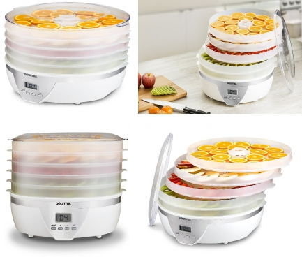 11 best food dehydrators under 100 in 2018 food dehydrator with digital temperature settings five nesting tray drying system for beef jerky fruits and more bpa free plus free recipe book forumfinder Choice Image