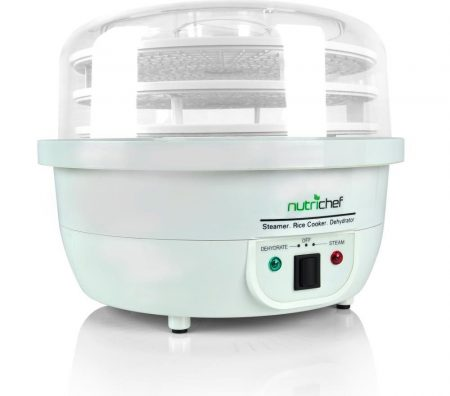 NutriChef 3-in-1 Food Dehydrator & Steamer Cooker