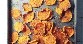 Baked Cayenne Sweet Potato Chips