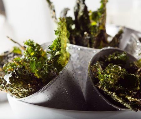 Parmesan Pepper Curly Kale Chips Recipe