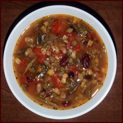 Recipe 36: Vegetable Bean Soup with Garlic & Tomato