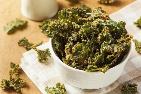 Red and Green Kale Chips Recipe