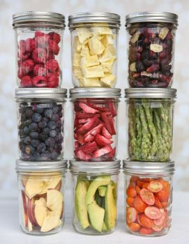 Fruits and Vegetables Stored in Jars
