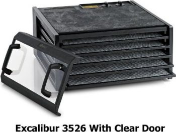 Excalibur 3526TCDB 5 Tray Dehydrator with Clear Door and Timer