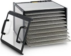 Excalibur 9-Tray Clear Door Stainless Steel Dehydrator D900CDSHD