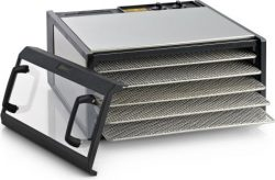 Excalibur Dehydrator 5-Tray Clear Door Stainless Steel D500CDSHD