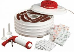 Nesco FD-28JX Jerky Xpress Dehydrator Kit with Jerky Gun