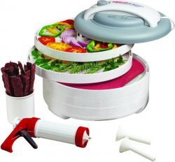 Nesco FD-61WHC Snackmaster Express Dehydrator All-In-One Kit with Jerky Gun
