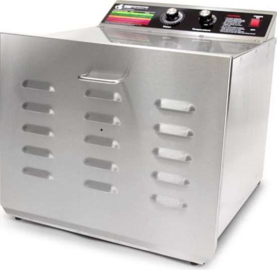 TSM Products Stainless Steel Dehydrator with 10 Shelves