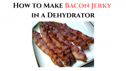 How to Make Bacon Jerky in a Dehydrator