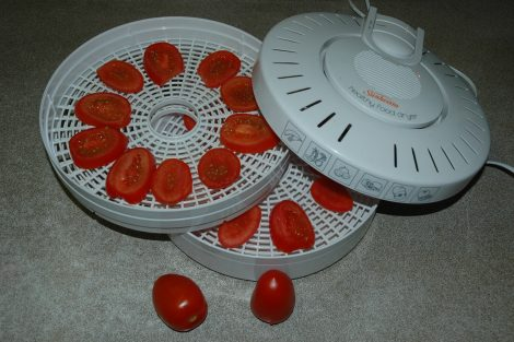 Dried Tomatoes in Dehydrator